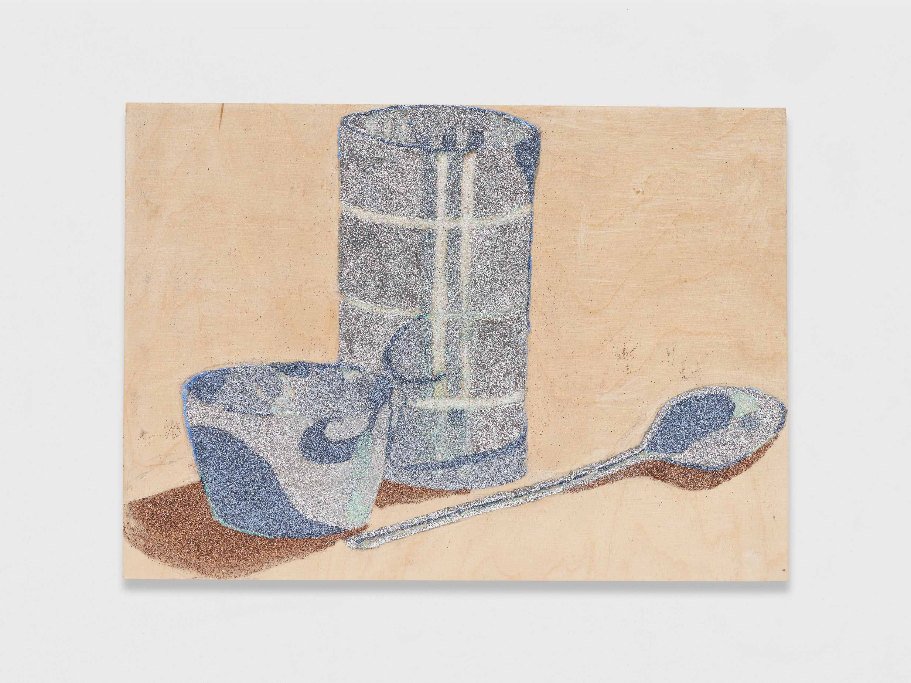 <p>Cup, glass, spoon</p>